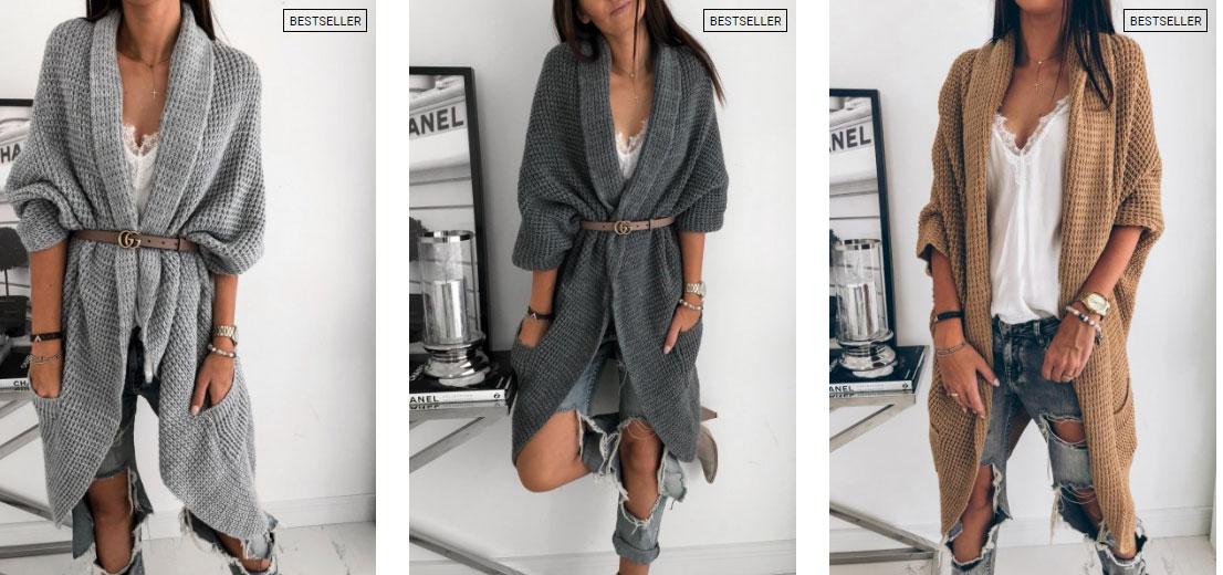 43de70581 Módne Luxusné nezvyčajné pletené kabáty / Cardigan / Svetre / dlhé pletené  vesty Talianska kvalita